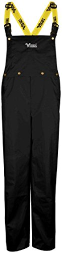 - Viking Wear 3307P Men's Black Journeyman 420D Nylon Rain Pants with Detachable Bib - Medium