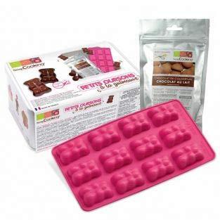 Metal box - marshmallow & chocolate teddy bears