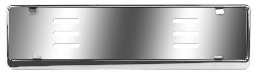 European Plate Bracket (Stainless Steel Euro License Plate Holder - Universal Mounting Frame/Bracket)
