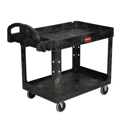 Service 2 Shelf Cart 36X24 Struct Foam Bla|24