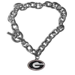 Georgia Bulldogs Bracelets - Siskiyou NCAA Georgia Bulldogs Charm Chain Bracelets, 7.5-Inch
