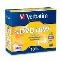 Verbatim 4.7 GB 1x- 4x ReWritable Disc DVD+RW, 10-Disc Slim Jewel Case 94839 SOLD BY Prefectmart THANK YOU by Prefectmart