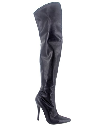 Wonderheel Stiletto Botas De Salto Alto Mate Over-knee Virilha Stiefel