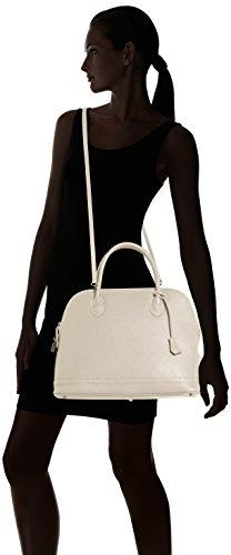 Fabricado Chicca Bolso Moda Elegante Italiano Beige Mujer De Cm Ctm Genuino Suave Italia En La Cuero Tutto 40x30x15 BxRqwrB