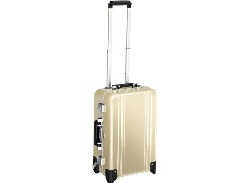 Zero Halliburton 2 Wheel - Zero Halliburton Classic Polycarbonate Carry On 2 Wheel Travel Case, Polished Gold, One Size