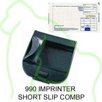 Addressograph Bartizan 990 Mini Portable Imprinter 100 Short Slip Combo