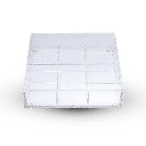 SHOKADO ACRYLIC SQUARE BENTO BOX - 9 DIVIDED by TableTop King