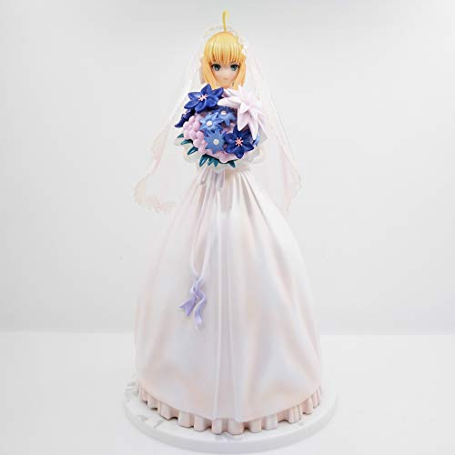Fate/Stay Night Saber Lily Royal Dress White Wedding Dress 10th Anniversary Action Figure PVC 25cm Collection Saber Wedding Doll