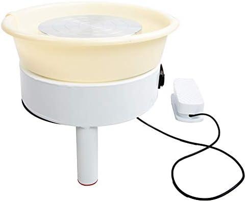Elektrische Töpferscheibe, 3 Fuß Zuverlässig Geräuscharm Haushalt Bürstenlose Keramische Elektrische Maschine 0~300r / min Ton Werkzeug für Keramische Arbeit Ton Kunsthandwerk(350W 32cm EU Stecker)