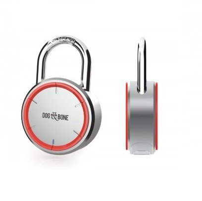 Dog & Bone LockSmart Keyless Lock Bluetooth Padlock Silver by Dog & Bone