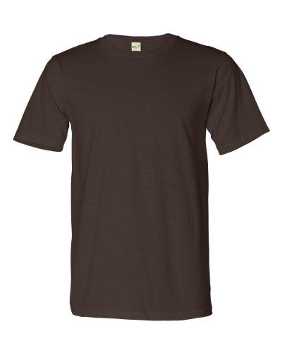 Anvil Men's Organic Cotton Crewneck T-Shirt, Mocha, X-Small