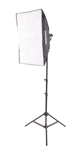 Fovitec  StudioPRO – 1x 20″ x 28″ Softbox Lighting Kit w/ 1000 W Total Output – [Classic][Includes Stand, Softbox, Socket Head, 5x 45W Bulbs]