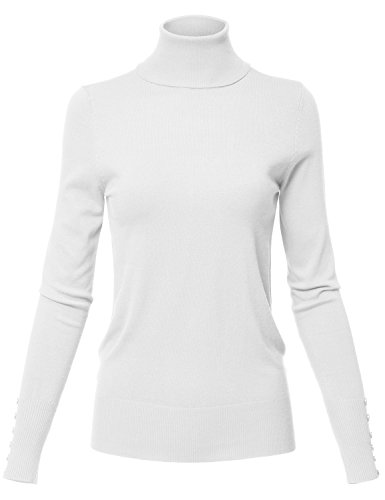 Rib Knit Turtle Neck Long Sleeve Sharkbite Uneven Hem Tops,130-white,US XL