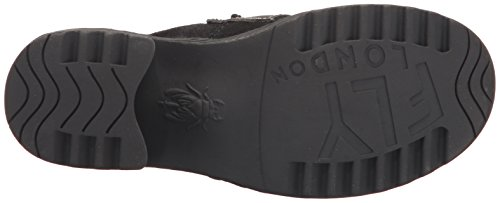 Mouche London Womens Wend764fly Penny Loafer Huile Noire Daim / Tapis