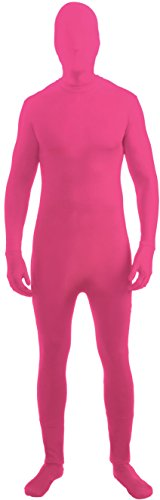 Forum Novelties I'm Invisible Costume Stretch Body Suit, Neon Pink, Child Large