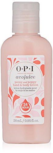 OPI Avojuice Hand Lotion, Peony & Poppy, 1 fl. oz. (Peony Cream Hand)