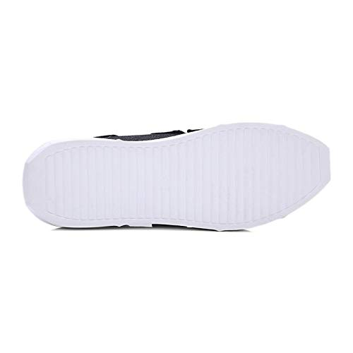 tacón Summer Sneakers Plano Punta de Redonda de Comfort Blanco de amp; Negro Rosa sintética Spring ZHZNVX de Zapatos Black Piel Mujer Marcha Zapatos q8aZnvTZ