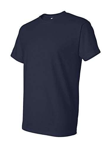 (Gildan Ultra Blend 8000 50/50 Cotton/Poly T-Shirt - Navy Blue, Medium)