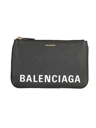 Balenciaga Women's 5457730Otdm1000 Black Leather Clutch