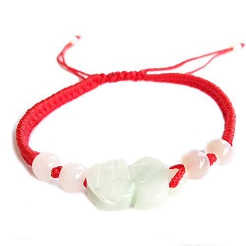 - MANRUO The Best Feng Shui Red String Bracelet with Color Jade Pi Xiu/Pi Yao Bead Lucky Wealthy Amulet Brecelet Jewelry
