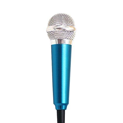 3.5mm Clip On Mini Lapel Mini Microphone For Mobile Phone (Blue) - 6