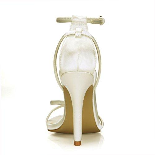 Zomer Eenvoudige Hakken Sandalen Bruids Bruidsmeisje Schoenen Vrouwen Open Teen Pompen Prime Wit