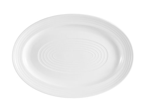 CAC China TGO-51 Tango Bone White Porcelain Oval Platter, 15-5/8-Inch by 10-5/8-Inch, Box of 12