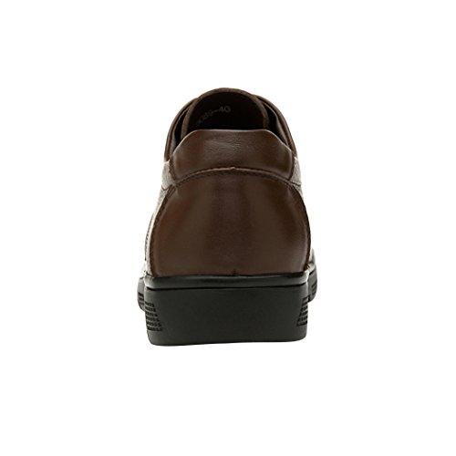 Spades & Clubs Herren Schuhe mit Blockabsatz, glattes Leder, Braun - braun - Größe: 38,5