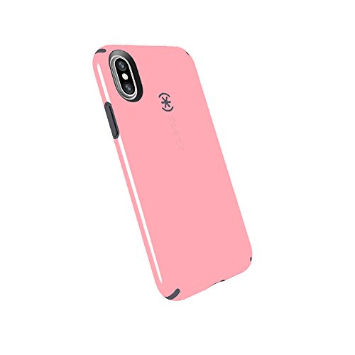 Speck Products Compatible Phone Case for Apple iPhone Xs and iPhone X, CandyShell Case, Island Pink/Slate Grey
