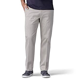 Lee Mens 42762 Performance Series Tri-Flex No Iron Relaxed Fit Pant Casual Pants - Beige - 30W x 30L