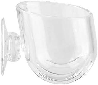 Brocan 水族館のためのカップの魚のRedワームフィーダーカップを食べさせる小さなクリスタルガラス工場(L)