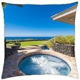 Beautiful Contemporary Home and Jacuzzi Hot Tub Kauai Hawaii - Throw Pillow Cover Case (18