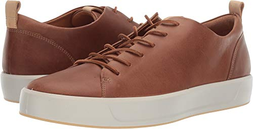 ECCO Men's Soft 8 Tie Fashion Sneaker, Cashmere/Powder Lx 5-5.5 M US