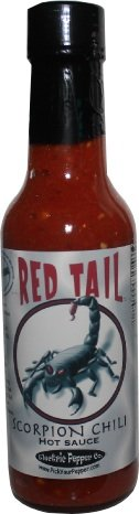 Trinidad Moruga Scorpion Chili Pepper Hot Sauce Red Tail