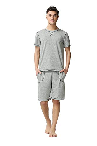 Manica Pigiama Due Homewear Estiva Short Uomo Leggero Grau Set Da Corta Pezzi IBwdaqd7