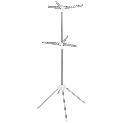 InterDesign Brezio Folding Tripod Two-Tier Laundry Drying Ra