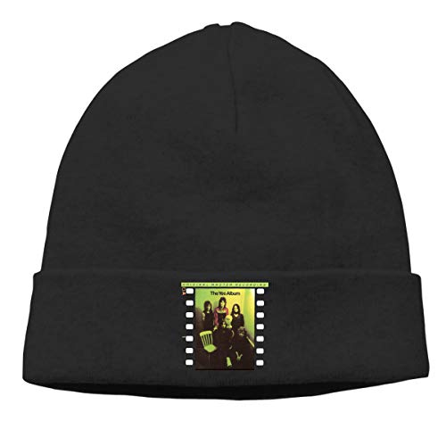 GabrielR Yes The Yes Album Beanie Cap Hat Ski Hat Cap Snowboard Hat for Men and Women Black