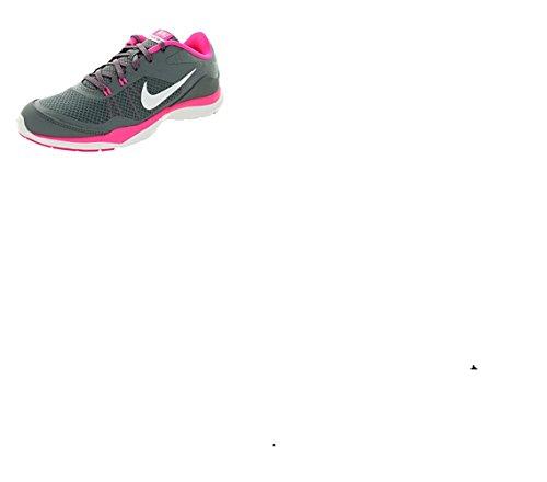 Nike Dames Flex Trainer 5 Hardloopschoen, Cool Grijs / Wit / Roze Pow / Donkergrijs - 7 D (w) Ons