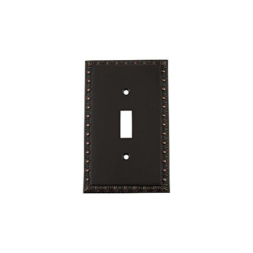 Nostalgic Warehouse 719686 Egg & Dart Switch Plate with Single Toggle, Timeless Bronze ()