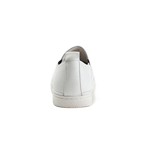 Caerse redondo gorras zapatos'/Piso pedales zapatos de los hombres blanco