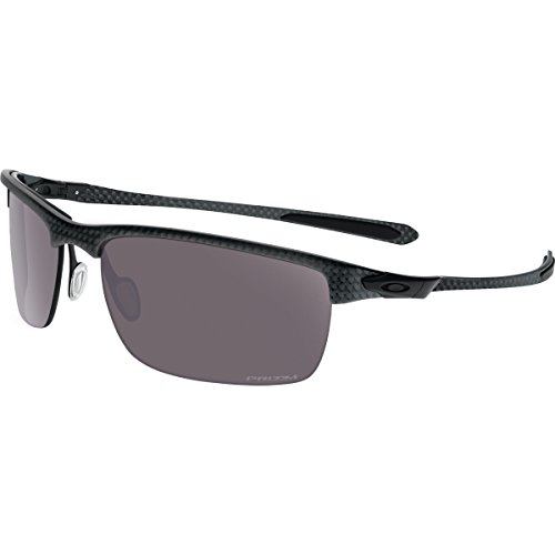 Oakley Men's Carbon Blade OO9174-07 Polarized Rectangular Sunglasses, Carbon Fiber, 66 mm