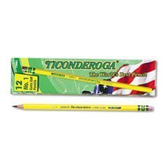 Ticonderoga Yellow Pencil, No.1 Extra Soft Lead, Dozen DIX13881 (4-Pack)