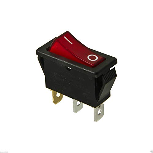 Cheap Dragon Ling LAN Rocker Switch Lighted On Off for Electric Fireplaces FMI Desa 120927-24 120 Volt Black Friday & Cyber Monday 2019