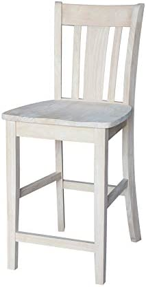 International Concepts San Remo Stool, 24-Inch SH, Unfinished