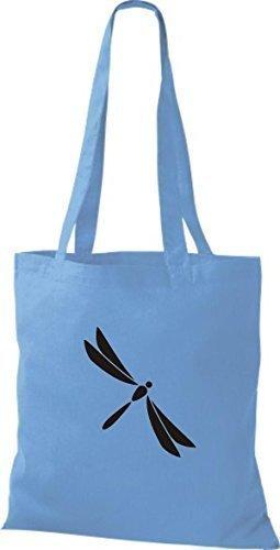 Shirtinstyle - Bolso de tela de algodón para mujer - azul claro