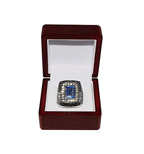 DETROIT TIGERS (Francisco Rodriguez) 2006 AMERICAN LEAGUE ALCS WORLD CHAMPIONS Rare Collectible High-Quality Replica Baseball Silver Championship Ring with Cherrywood Display Box