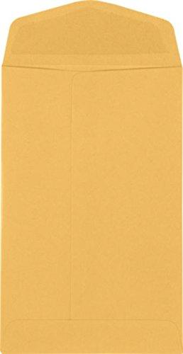 4'' x 6 3/8'' Open End Envelopes - 24lb. Brown Kraft (1000 Qty.) by Envelopes.com