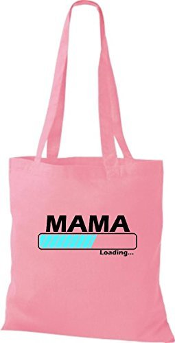 JUTA Borsa di stoffa Mamma Loading VARI COLORI - rosa, 38 cm x 42 cm