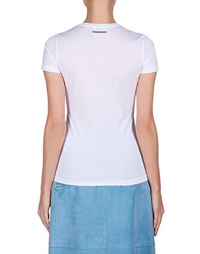 Mujer Blanco shirt Dsquared2 Algodon S72gc0838s22401100 T w0qaxnZdY