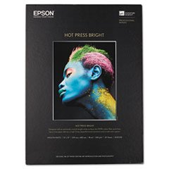 Epsona Hot Press Bright Fine Art Paper, 13 X 19, Bright White, 25 Sheets (Epson Hot Press Bright)